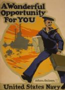 Vintage WW1 United States Navy Poster